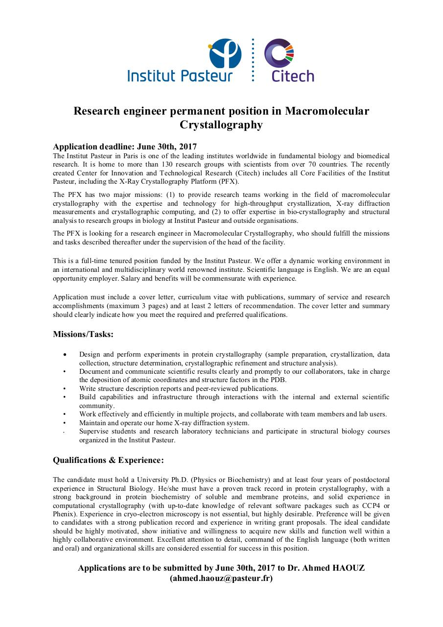 Research Engineer Cover Letter