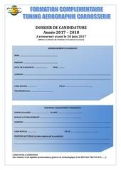 dossier de candidature aero 2017