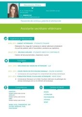 cv assistante veterinaire