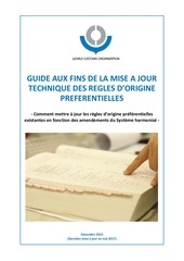 Fichier PDF guide for updating the preferential rules of origin fr