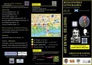 flyer rencontres litteraires 24 25 juin grez sur loing