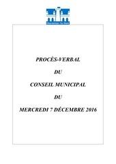 pv conseil municipal 7 decembre 2016