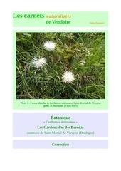 flore carthamus mitissimus carnets correction d raymond 2017
