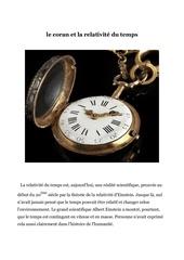 le coran et la relativite du temps