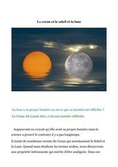 le coran et le soleil et la lune