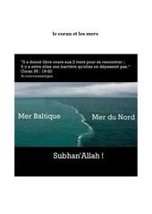 le coran et les mers