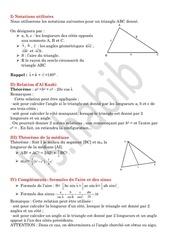 relations metriques dans un triangle quelconque
