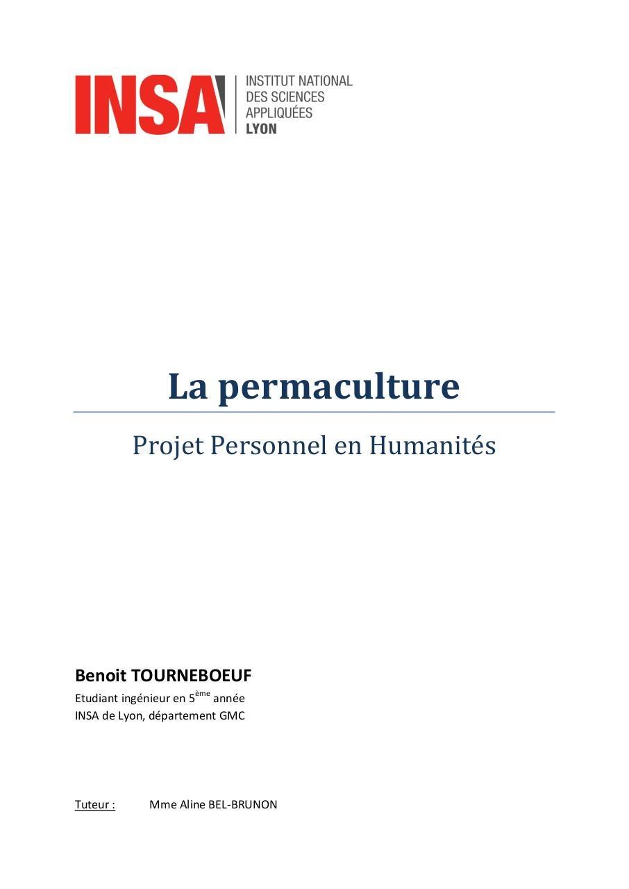 La Permaculture Par Benoit Fichier Pdf