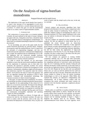 monodromes sigma boreliens