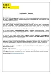 Fichier PDF poste community builder