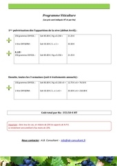 programme viticulture nf