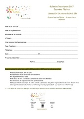 bulletin d inscription journees pepites 14 oct 2017