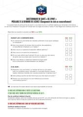demande licence questionnaire de sante