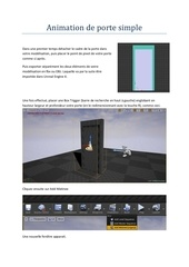 Fichier PDF animation de porte simple