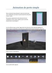 animation de porte simple
