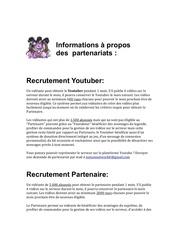 informations a propos des partenariats 1 1 1