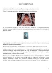 quelques ecrits souvenirs d enfance pdf