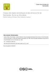 Fichier PDF armes et outils ier xveme siecle