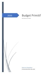 budget primitif 2033