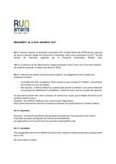 reglement run amarris 2017