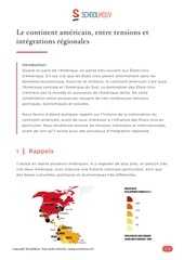 continent americain entre tensions et integrations