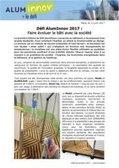 defi aluminnov communique 2017
