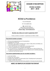 Fichier PDF dossier inscription lp