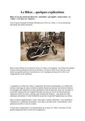 le biker explicatons