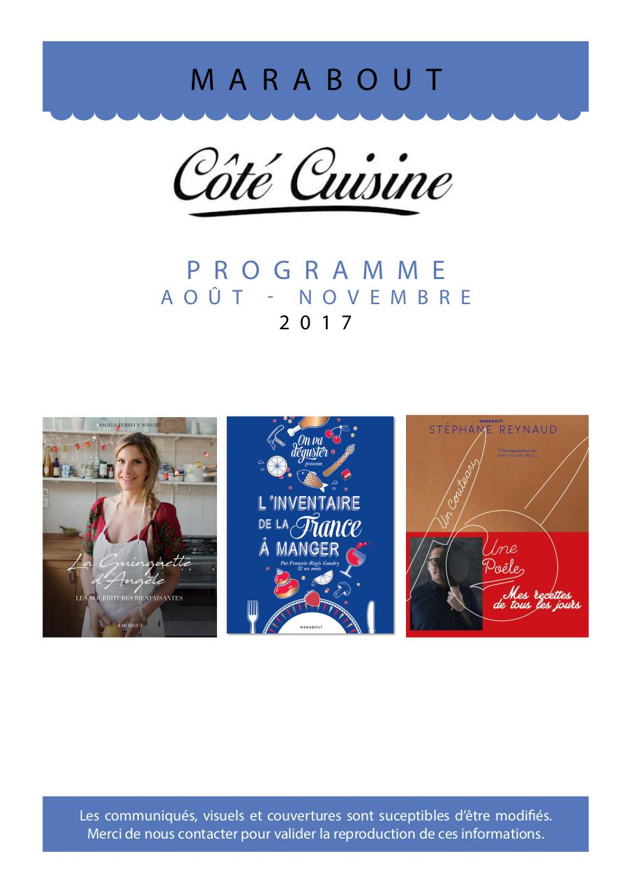 Programme Marabout Cuisine A N 2017 Fichier Pdf