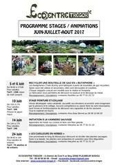 stages juin juillet aout ecocentre spered all
