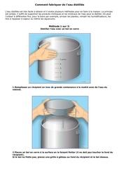 comment distiller de l eau
