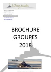 brochure groupes 2018