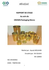 rapport de stage crown packaging maroc