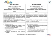 avis de course national rc laser 2017 16 06 2017