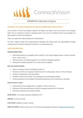 internship connectivision languagestudents