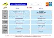 plannings d activites elementaires envermeu juillet 2017