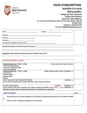 formulaire inscription retrouvaille 2017