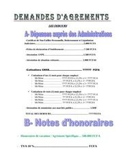 Fichier PDF agrements debours