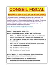 conseil fiscal burkinabe