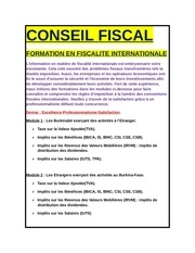 conseil fiscal international