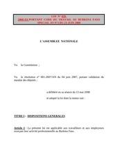 loi 28 2008 portant code du travail