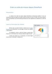 Fichier PDF procedure ordre de mission dans sharepoint