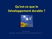 qu est ce que le developpement durable