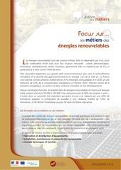 focus metiers energies renouvelables