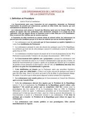 les ordonnances de larticle 38