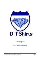 Fichier PDF catalogue t shirts vierges d tshirts