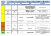 fetes manifestations du 23 au 25 juin 2017