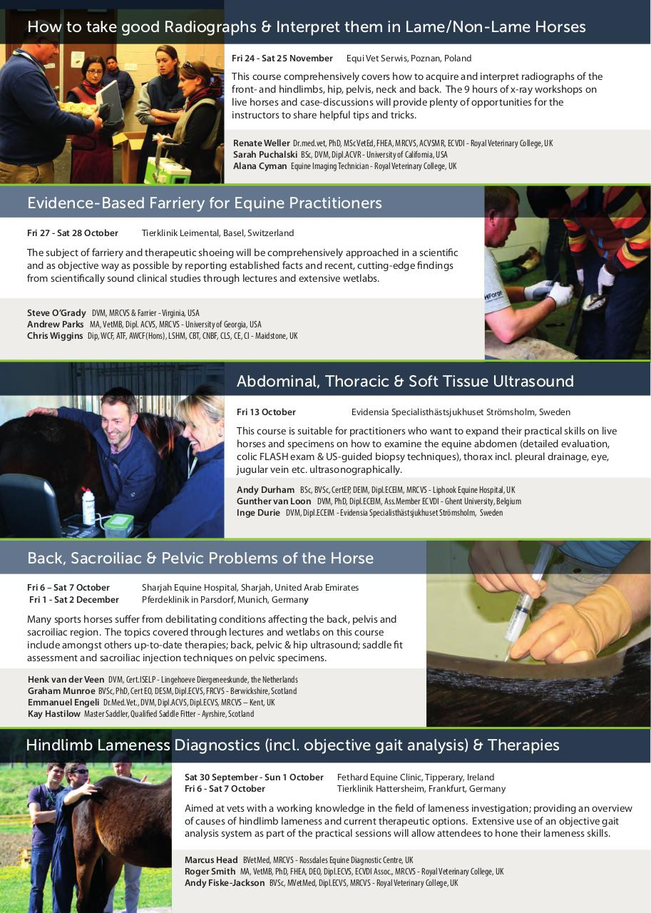 2017 Autumn Course Brochure Europe printable - Fichier PDF