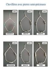 chevilleres avec perles semi precieuses