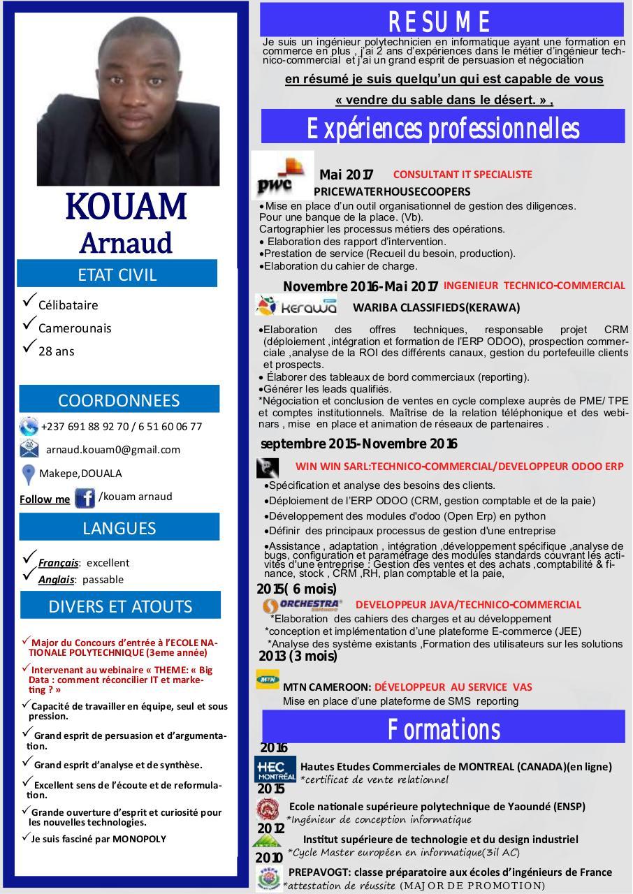 nom pr u00e9nom par free cv - cv boumaza abdelkrim pdf